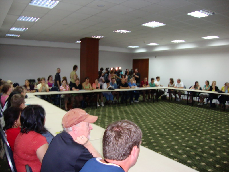 General orientation meeting at the Hotel